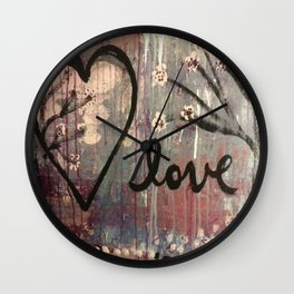 Open your Heart to Love Wall Clock