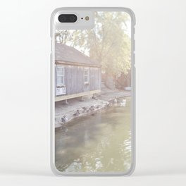 Small Town America - Jersey Style Clear iPhone Case