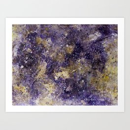 Writings in the Sky the Night Galaxy watercolor by CheyAnne Sexton Art Print