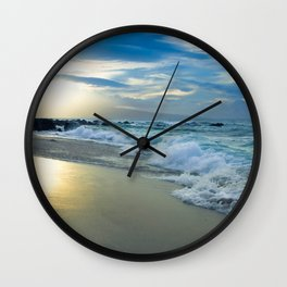 One Dream Sunset Hookipa Beach Maui Hawaii Wall Clock
