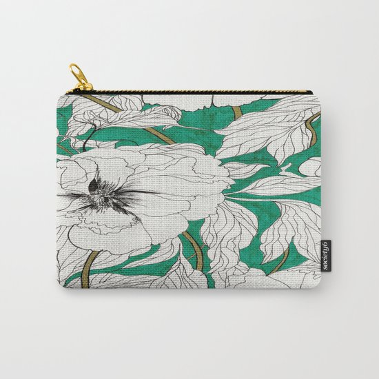 green peonies Carry-All Pouch