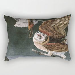 Barn Owls, the Birds of America by John James Audubon Rectangular Pillow