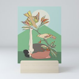 Yoga Mudrasana Mini Art Print