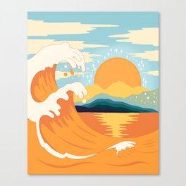 Orange wave Canvas Print