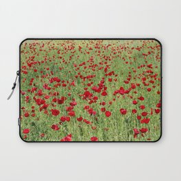 A Pasture Of Red Poppies and Remembrance Laptop Sleeve