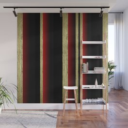 Elegant Golden Stripe Wall Mural
