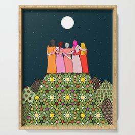 Sisterhood under the full moon Serving Tray