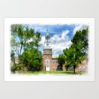 college Art Prints featuring Dartmouth College by Edward M. Fielding