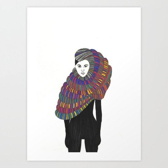 Fashion Illustration 2  Art Print