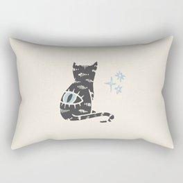 Inktober Day 1 - Cat Rectangular Pillow