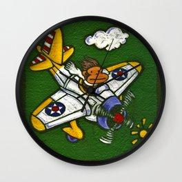 Airplane Ape Wall Clock