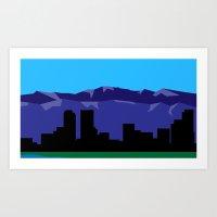 denver Art Prints featuring Denver by Colorado Vectors