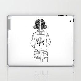 girl gang (black & white) Laptop & iPad Skin