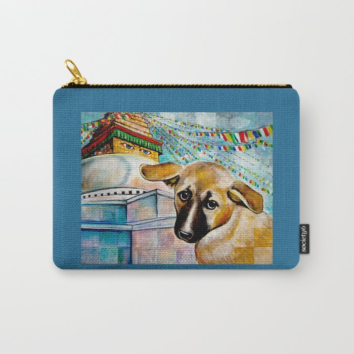 Alice by the Buddha Stupa Carry-All Pouch