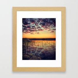 Morning reflection Framed Art Print
