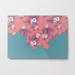 Tropical Fluo Tiles #society6 #decor #buyart Metal Print