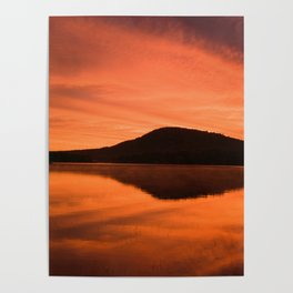 Dawn on Fire: Lac du Saint Sacrement Poster