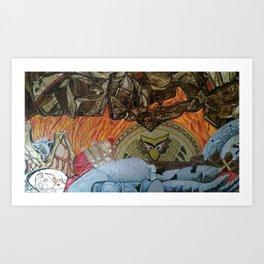 QUIEN PERDIO Art Print