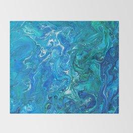 Elegant Crazy Lace Agate 2 - Blue Aqua Throw Blanket