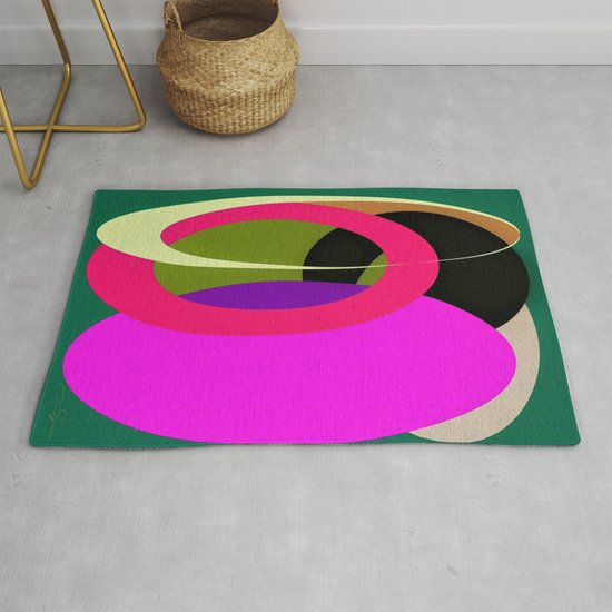 Abstract Composition in Green and Fuchsia by ayamaries