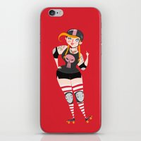 roller derby iPhone & iPod Skins featuring Roller Derby by Martin Corba - Hadoland