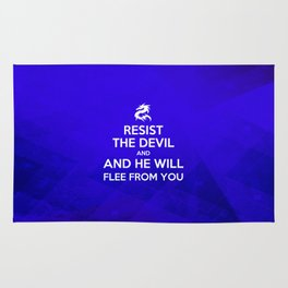 Resist the Devil - Bible Lock Screens Rug