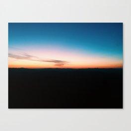 Smoky Sunrise Canvas Print