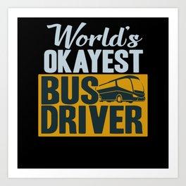 Bus Driver Art Print