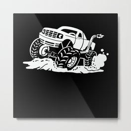 Off-road Vehicle Retro Style Gift Motif Metal Print