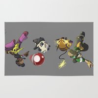 fight Area & Throw Rugs featuring Fight! by Paul Giovinco