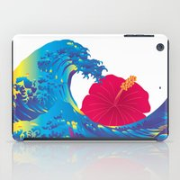 hokusai iPad Cases featuring Hokusai Rainbow & Hibiscus_R  by FACTORIE