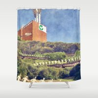 community Shower Curtains featuring Community Recycling by politics