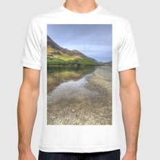 Buttermere, Lake District MEDIUM Mens Fitted Tee White