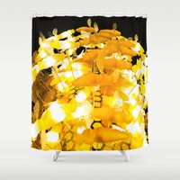 bees Shower Curtains featuring Bees by Long Live The Doughnuts