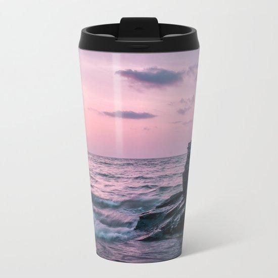 Ocean landscape at sunset Metal Travel Mug