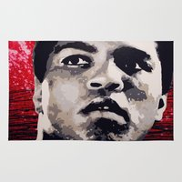 ali Area & Throw Rugs featuring Ali by CjosephART