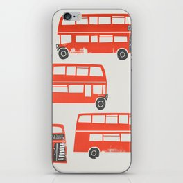 London Double Decker Red Bus iPhone Skin