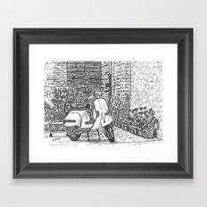 Vespa Framed Art Print