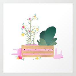 Bunns in a crate Art Print