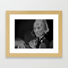 First Doctor and Susan Framed Art Print
