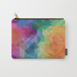 RAINBOW MULTI COLOR GEOMETRIC PRINT Carry-All Pouch