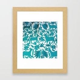 Otomi Cyan Framed Art Print