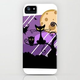 Scary Witch Cat iPhone Case