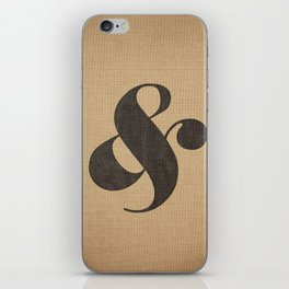 Elephant Italic Ampersand iPhone Skin