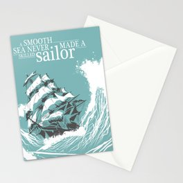 A Smooth Sea Neve Made  Skilled Sailor Illustration Stationery Cards