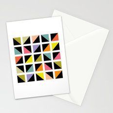Triangle fragment pattern Stationery Cards