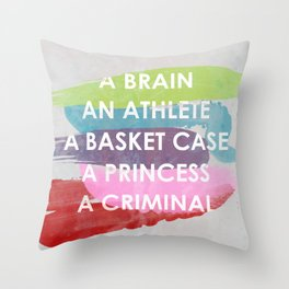 Sincerely yours, The Breakfast Club. Throw Pillow