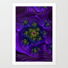 Purple Well Art Print