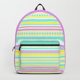 Bright striped pattern Backpack