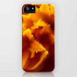 Marigold Macro Abstract iPhone Case